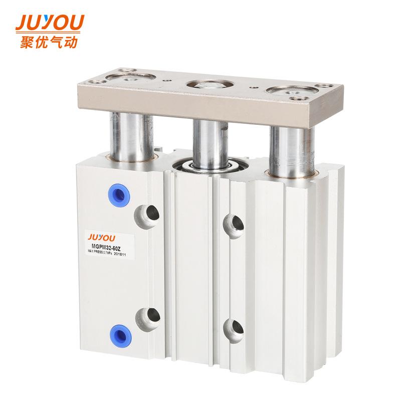 JUYOU Ống xilanh Ba trục ba thanh dẫn hướng xi lanh loại SMC với TCM / MGPM20-10z20z30z40z50z75z100z