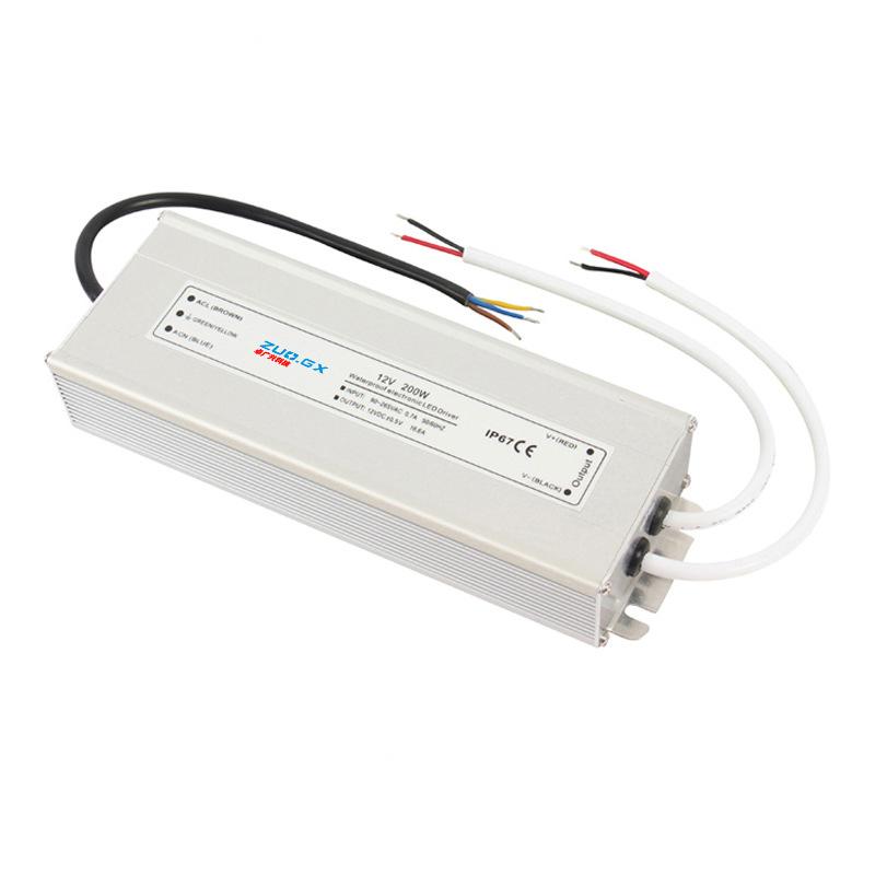 ZGX Bộ nguồn không đổi Dải đèn LED 12V200W 12,316A Điện áp không đổi và nguồn điện không đổi IP67 cấ