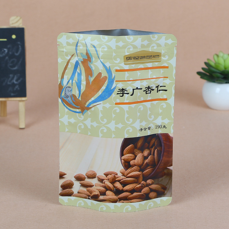 Túi đứng Nhà sản xuất bán buôn hạt dưa hạt đậu phộng bao bì túi nhôm lá tự hỗ trợ túi tự hỗ trợ túi