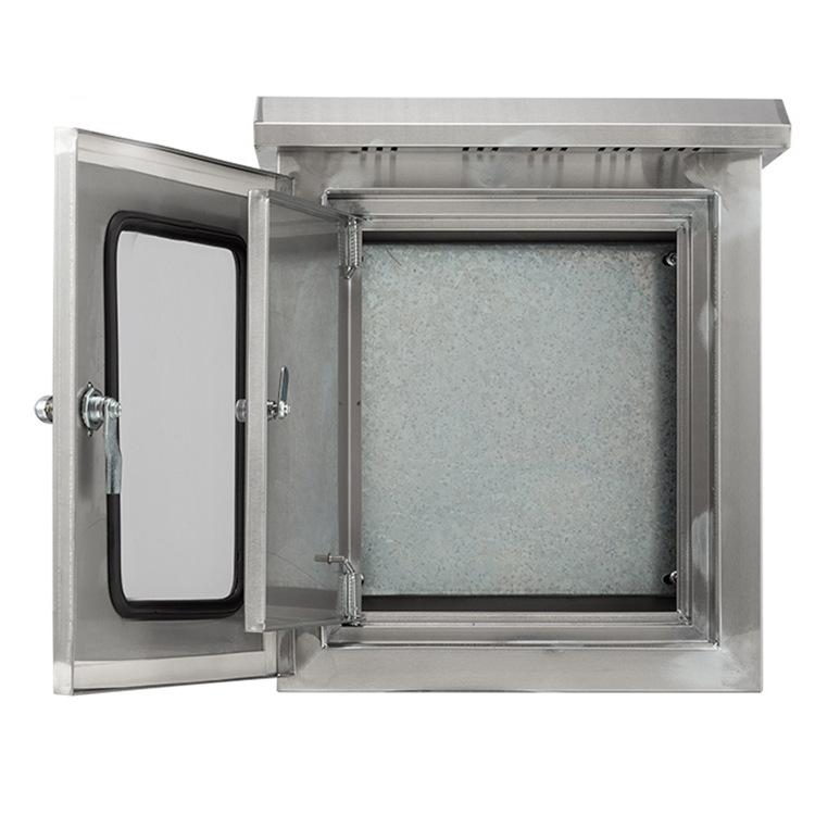 QYE Hộp phân phối điện Dụng cụ inox 304 hộp chống thấm ngoài trời hộp phân phối inox ngoài trời