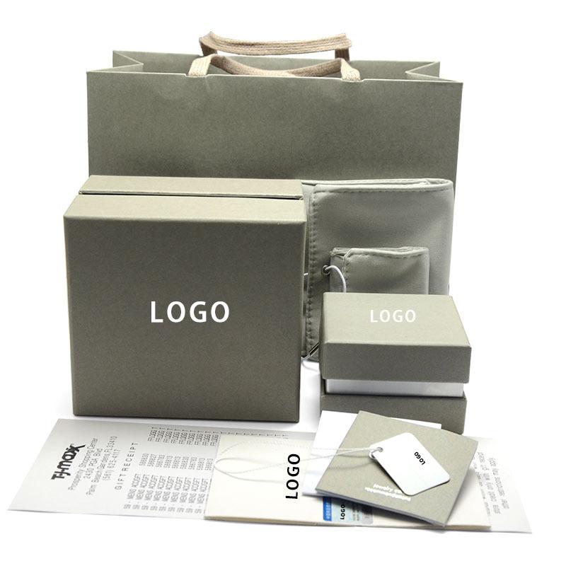 Túi đựng trang sức Vòng đeo tay tám mảnh màu xanh đậm đặt túi tote màu xanh nhạt hộp trang sức màu x