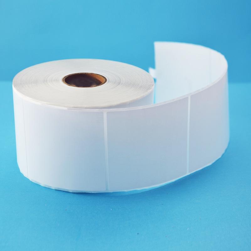 XIONGTE Tem dán in mã vạch Nhà máy trực tiếp bán giấy dán trống 80 * 80 * 1000 Giấy dán trống giấy c