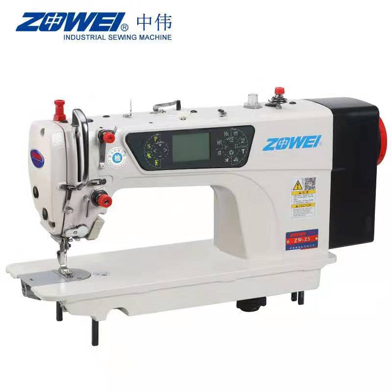 ZHONGWEI Máy may LCD hiển thị mẫu máy tính xe phẳng đa chức năng động cơ bước động cơ máy may công n