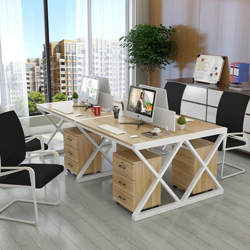 Thị trường nội thất văn phòng Bàn nhân viên bàn máy tính bàn ghế nhân viên bốn người kết hợp bàn ghế