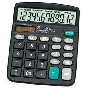 YILIFA Máy tính Bán buôn Vật tư kế toán văn phòng Yilifa 837 Máy tính năng lượng mặt trời 12 chữ số