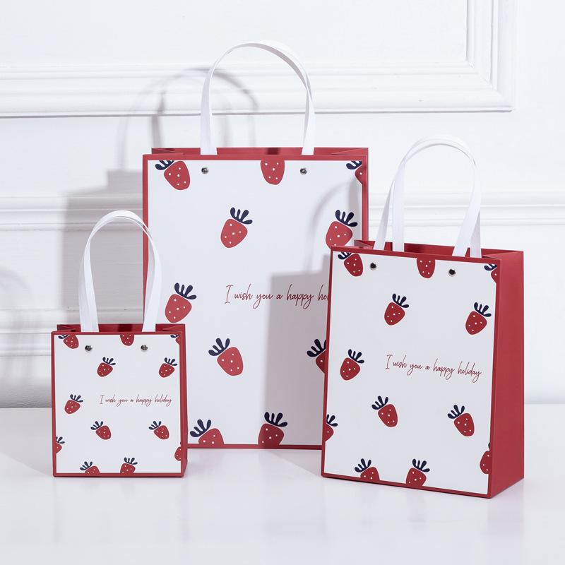 KEYAN Túi giấy đựng quà Điểm mới đơn giản thời trang túi giấy nhỏ kỳ nghỉ tươi quà tặng túi quà tặng