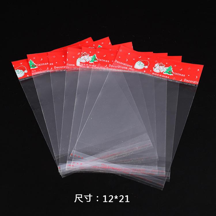 Túi opp OPP Giáng sinh cung cấp túi bao bì Túi trong suốt tự dính túi thẻ Túi nhựa bao bì hàng ngày