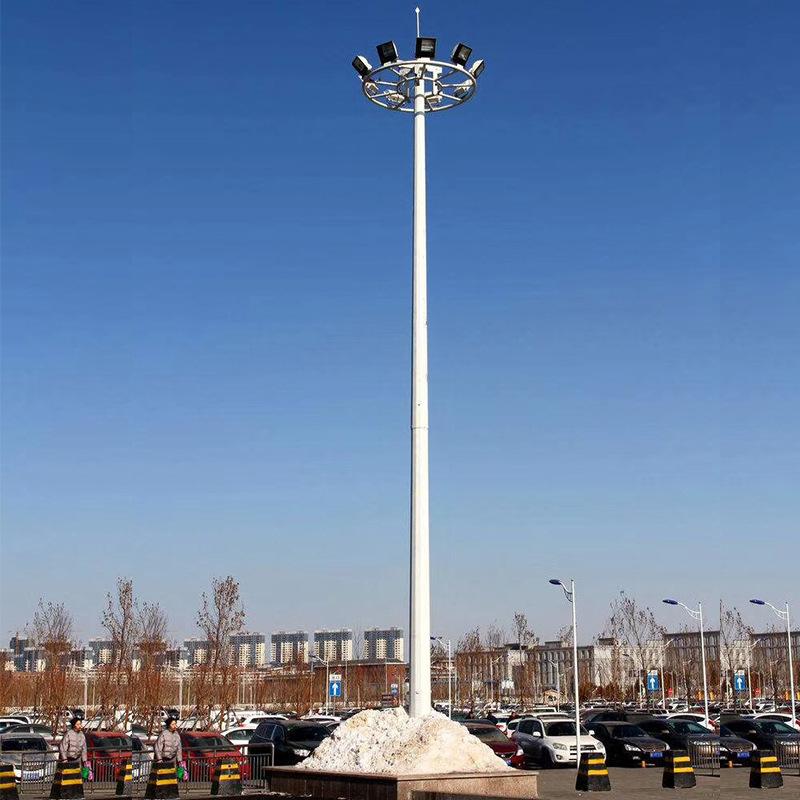 LIANGSHI Đèn LED chiếu sáng công cộng 25m tự động nâng cực cao ánh sáng cực cao 15m-30m vuông cực án