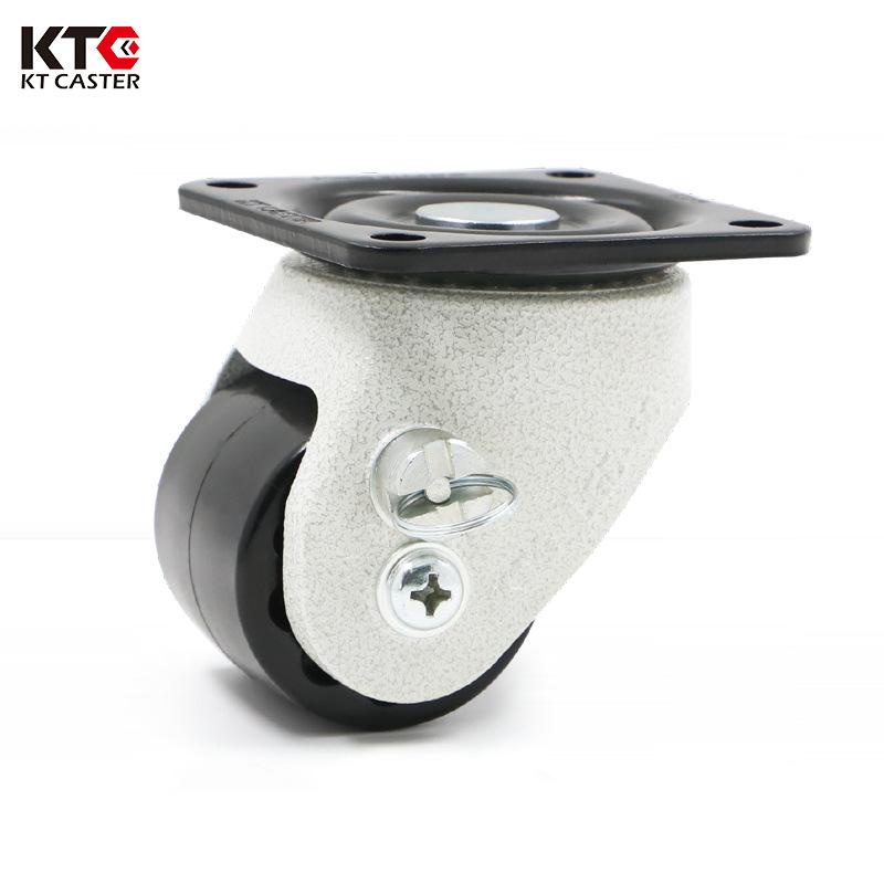 KTC bánh xe đẩy(Bánh xe xoay) Caster nhà máy bán buôn 2,5 inch phổ thấp trung tâm trọng lực caster m