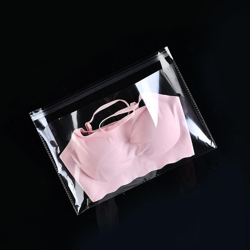 Túi đựng áo lót Mua nhà máy sản xuất túi opp ngang mở túi nhựa trong suốt bao bì 100 chiếc / cái