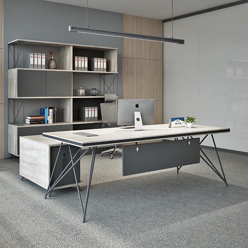 Thị trường nội thất văn phòng Nội thất văn phòng phong cách công nghiệp chủ tịch bàn ông chủ bàn hiệ