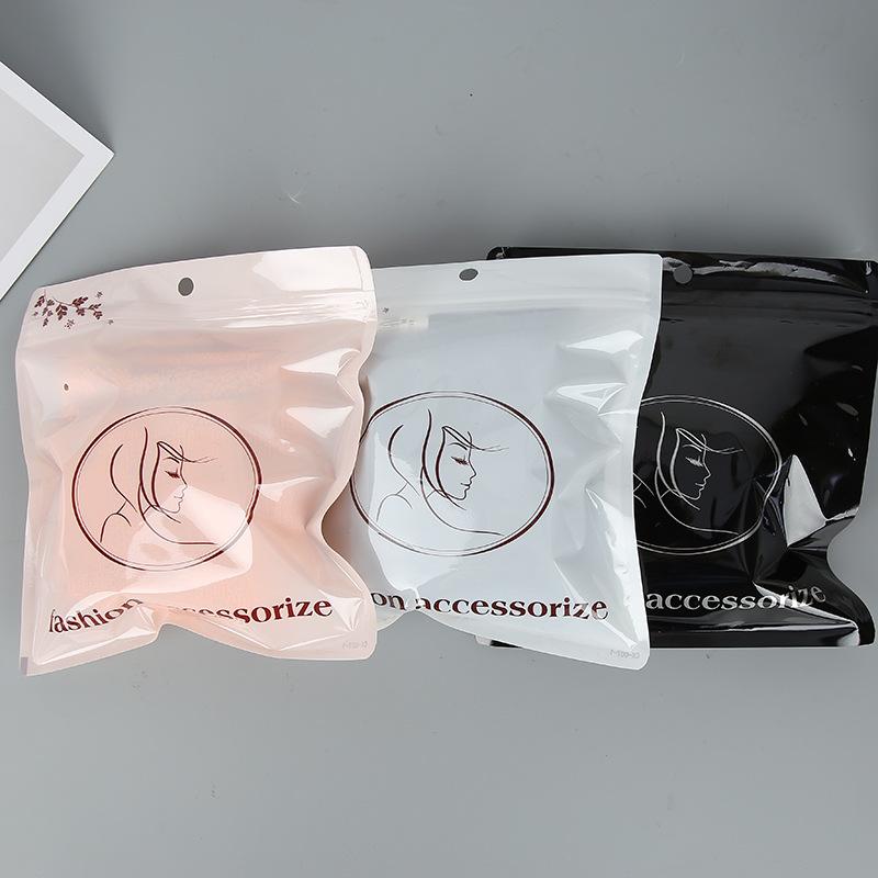 OULE Túi đựng quần lót Nhà máy bán hàng trực tiếp tổng hợp mờ ziplock túi vuông lưu trữ dây kéo túi