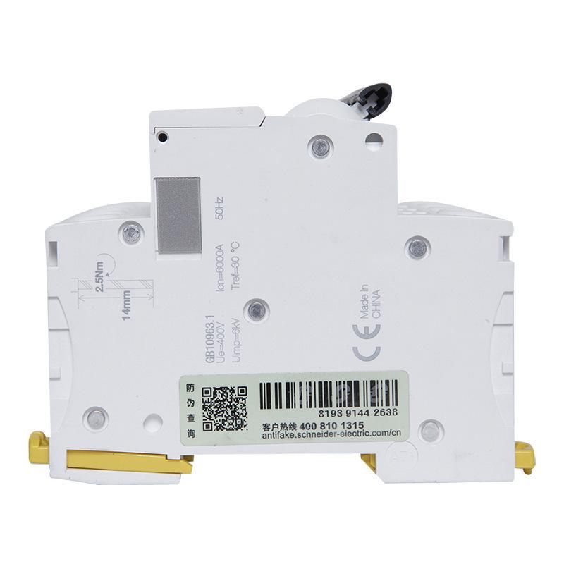 Schneider Electric Cầu dao CB Bộ ngắt mạch Schneider Acti9 Bộ ngắt mạch thu nhỏ IC65N 4PC1A-C63A Côn
