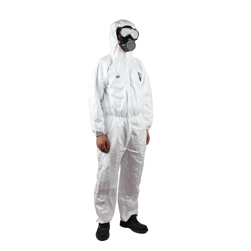 DUPONT Trang phục bảo hộ Quần áo bảo hộ DuPont Tyvek 1422A Xiêm thoáng khí trùm đầu Sơn xịt Quần áo