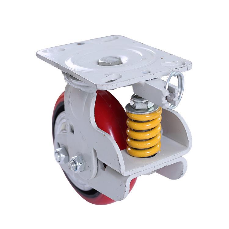 AOSEN bánh xe đẩy(Bánh xe xoay) Nặng 600 lò xo thẳng đứng giảm xóc đệm caster hấp thụ sốc lõi sắt po