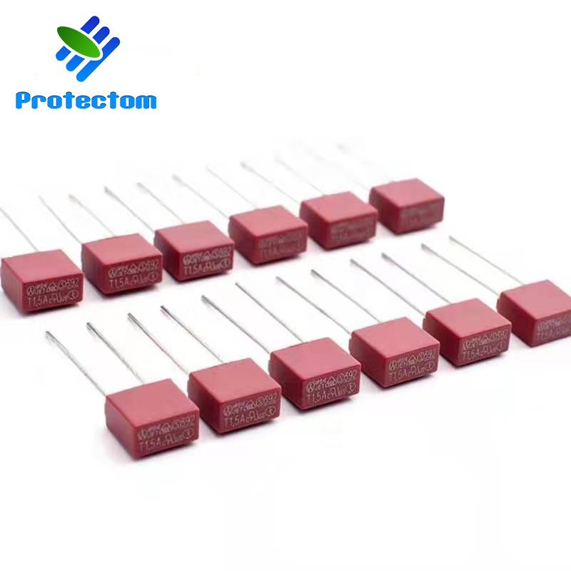 PROTECTOM Thiết bị bảo hộ Cầu chì vuông đỏ Cầu chì 2A2,5A Cầu chì vuông cầu chì thiết bị bảo vệ cầu