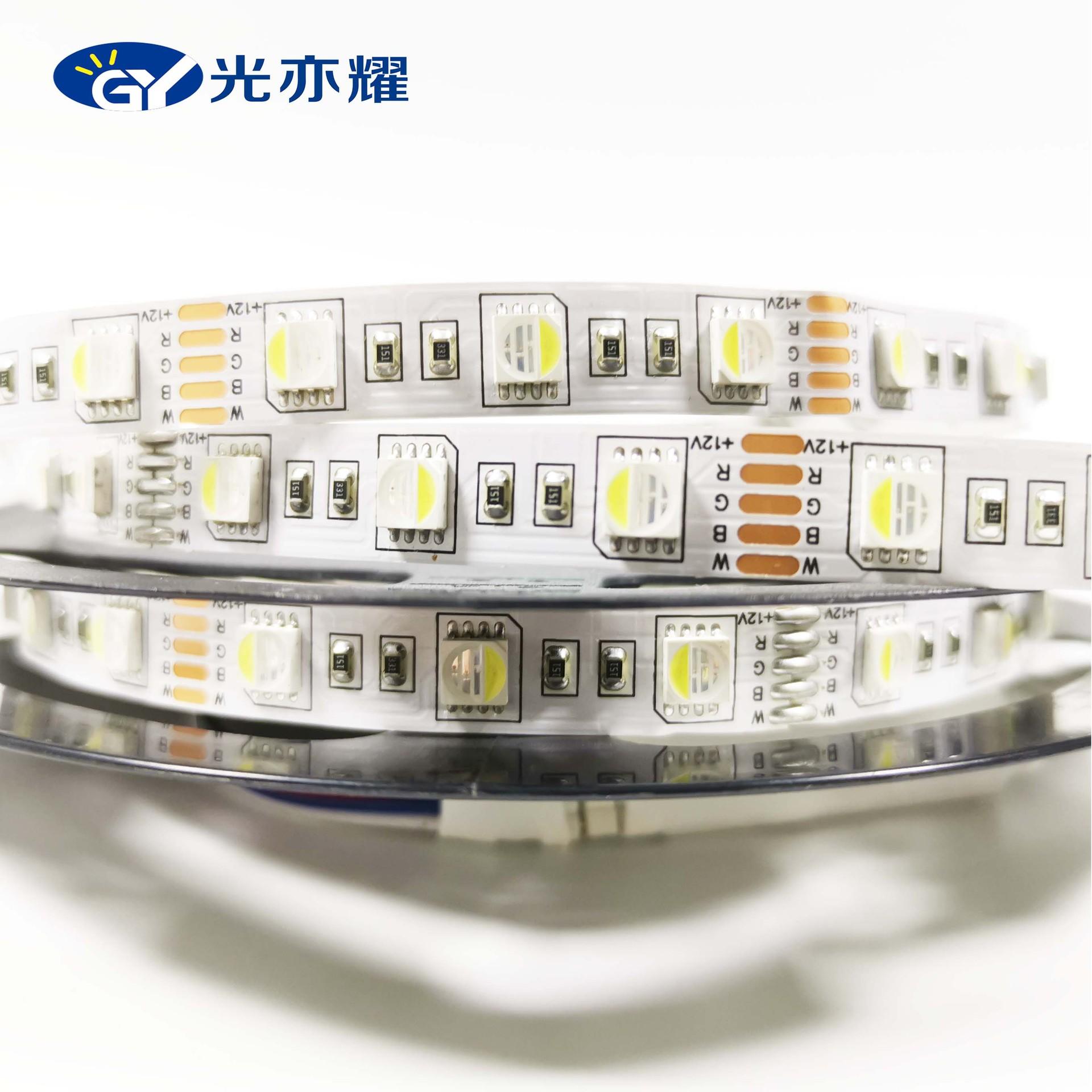 Đèn LED dây Đèn mềm 5050RGBW mới với 60 đèn 12V10mm bốn trong một siêu sáng đầy màu sắc cộng với ánh