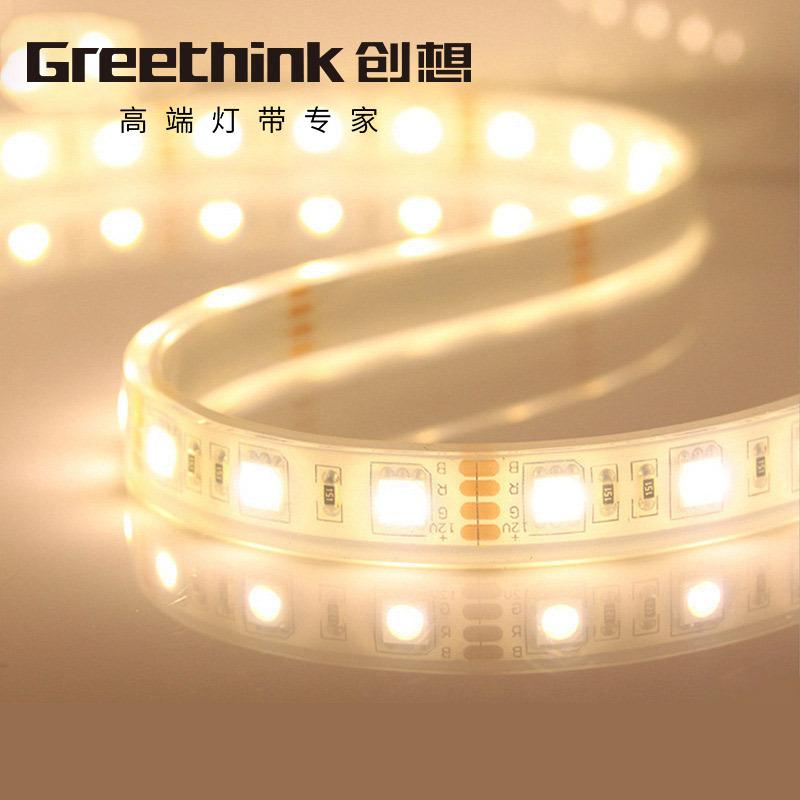 GreeThink Đèn LED dây Đèn led ngoài trời có đèn đính hạt 12V5050 SMD 60 làm nổi bật đèn chống nước x