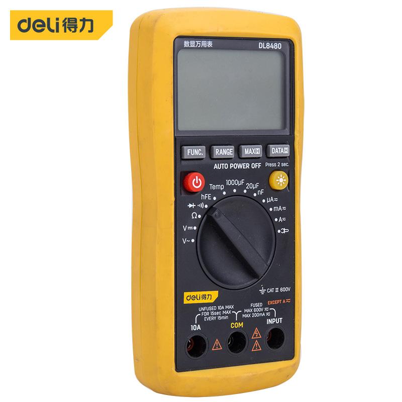 DELI Đồng hồ đo điện Đồng hồ vạn năng kỹ thuật số vạn năng hiệu quả