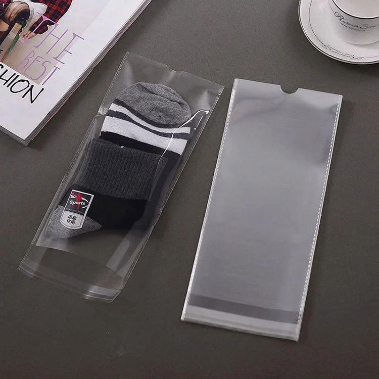 Túi opp Nhà máy trực tiếp vớ bao bì túi trong suốt đục lỗ túi nhựa túi màng phim tùy chỉnh in logo