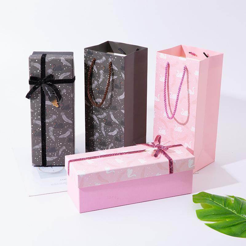 RANCHENG Hộp quà tặng Thiên đường và trái đất bao gồm hộp quà tặng hình chữ nhật cốc cách nhiệt túi