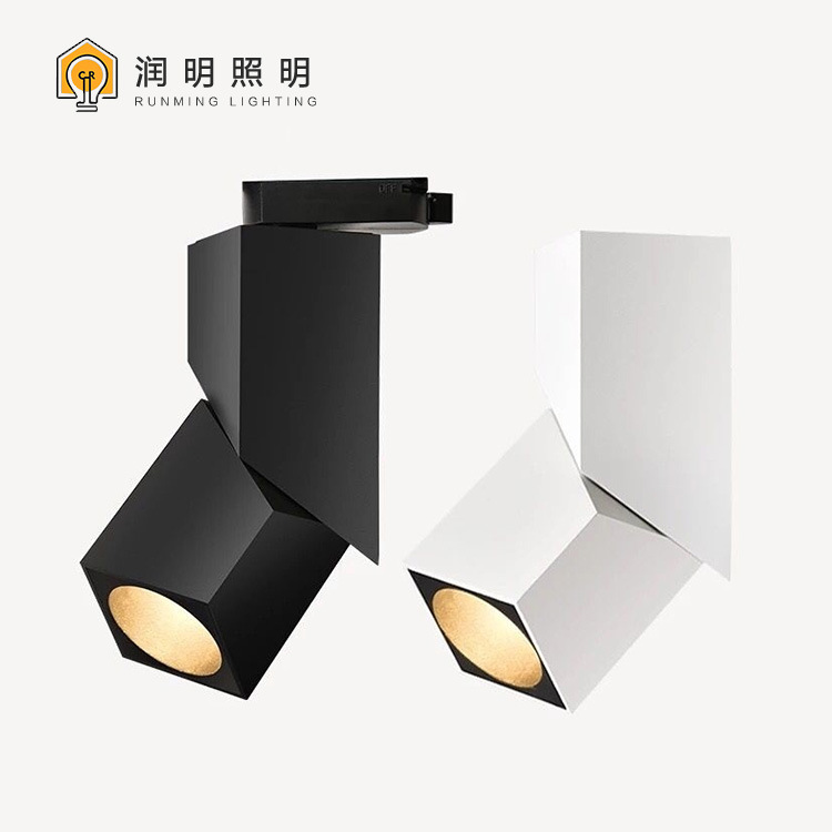 Đèn LED gắn ray Chạy spotlight led theo dõi ánh sáng bề mặt trang trí cửa hàng quần áo spotlight hàn