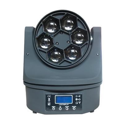 Đèn sân khấu 6 mắt ong LED di chuyển đầu ánh sáng chùm ánh sáng xoay ktv flash flash điều khiển âm t