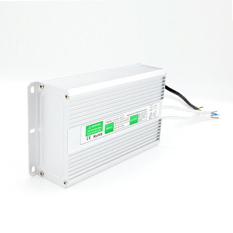 Bộ nguồn cho đèn LED Bộ nguồn chống nước 200W Bộ điều khiển chống nước ngoài trời 12V200W Bộ chuyển