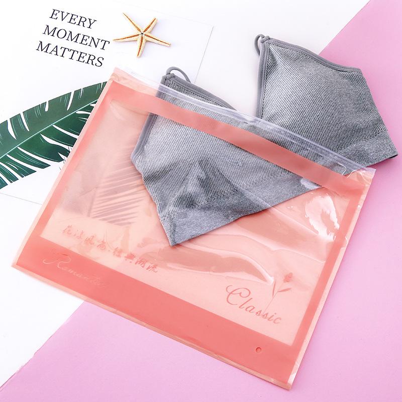 JIABO Túi đựng áo lót Ladies trong suốt áo ngực đồ lót dây kéo túi đấm phim quần áo bao bì túi pe zi