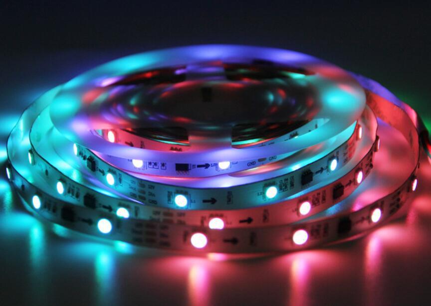 OULAIYA Đèn LED dây Bản giao hưởng LED của đèn gs1903 sm167703-5050-30 IC ngoài đèn