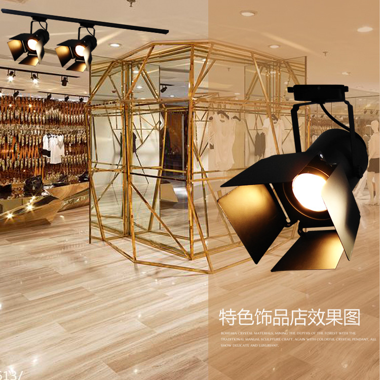 TUYAO Đèn LED gắn ray Nhà máy trực tiếp retro đèn theo dõi gió công nghiệp LOFT cá nhân sáng tạo cửa