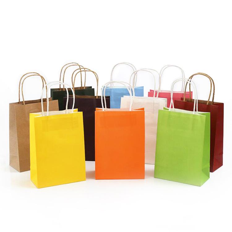 JINSHI Túi giấy tùy chỉnh in logo giấy kraft túi quần áo tại chỗ mua sắm túi ăn uống takeaway đóng g