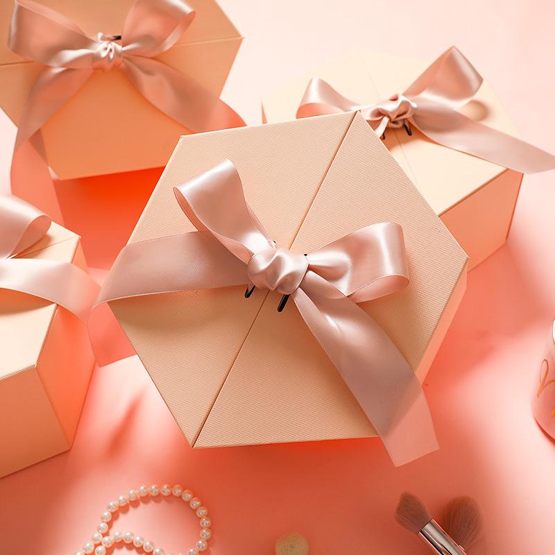 SSZA Hộp quà tặng Spot hộp quà tặng hình lục giác cao cấp tùy chỉnh tinh tế hộp quà hình lục giác lậ