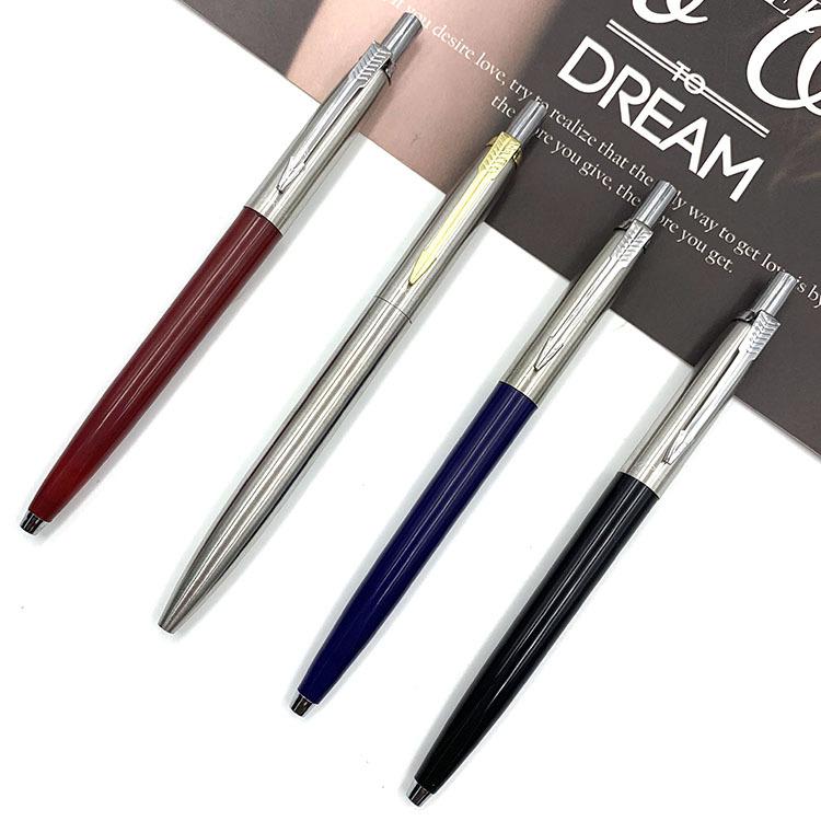 XUANYA Bút bi Nhà máy sản xuất kim loại ép trực tiếp Thép que Bút bi Bán kim loại T Wave quảng cáo B