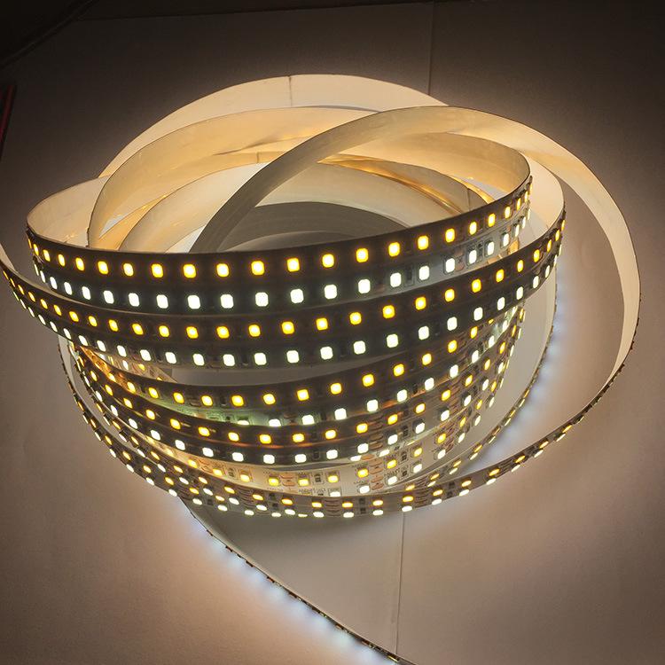 JINGDU Đèn LED dây Nhà máy bán hàng trực tiếp 122835 hàng đôi đèn nhiệt độ hai màu với 240 đèn 16mml