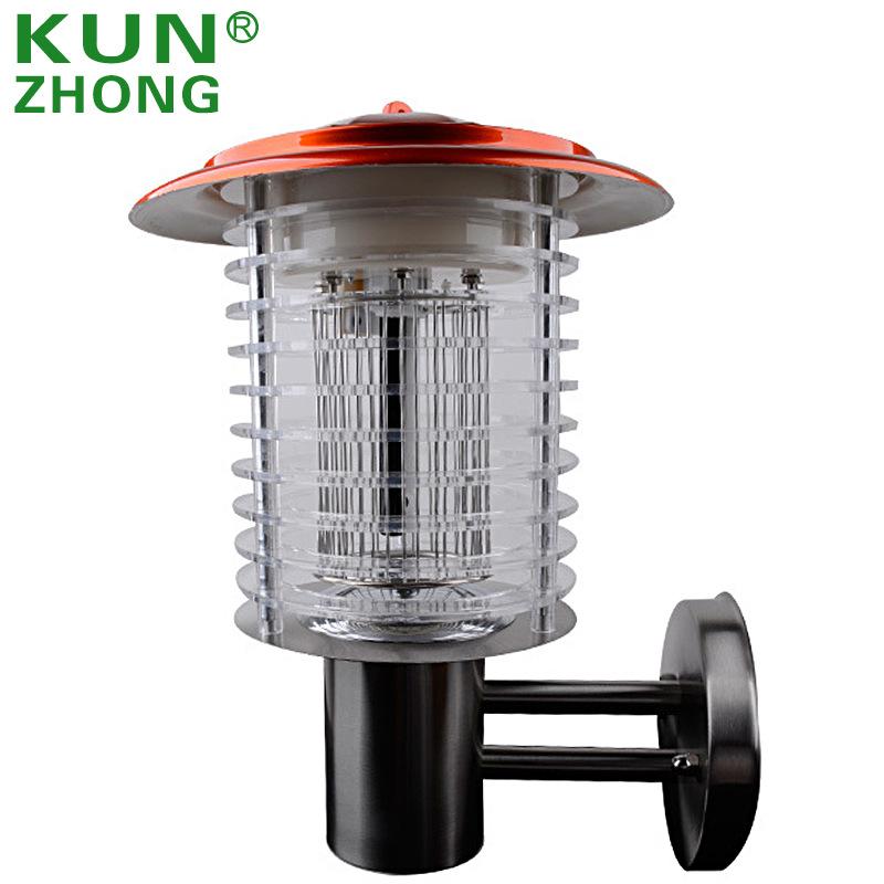 KUNZHONG Đèn diệt muỗi Đèn LED diệt muỗi vườn diệt muỗi tường ánh sáng ngoài trời bẫy muỗi không bức