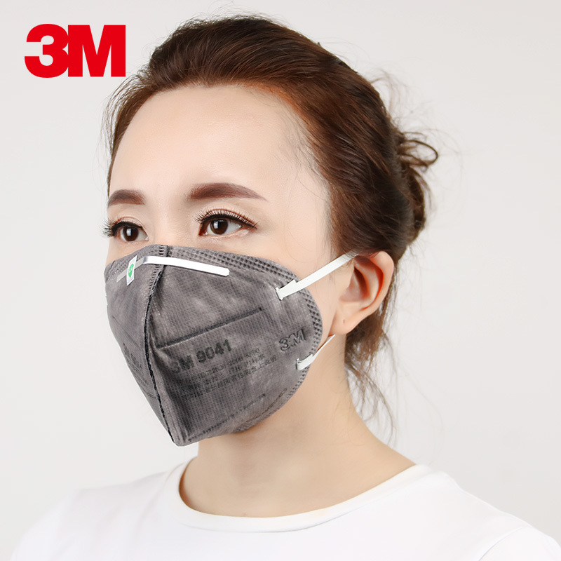 3M Khẩu trang bảo hộ Mặt nạ bảo vệ than hoạt tính 3M 9041 KN90 chống sương mù và mặt nạ chống độc ch