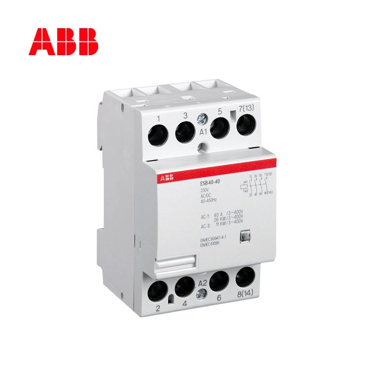 ABB contactor ESB series 4P bốn cực 24A xây dựng ESB24-40 * 230-240V AC / DC