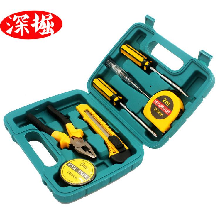 SHENJUE Dụng cụ tổng hợp Bộ công cụ gia đình Bộ hộp công cụ phần cứng 8 mảnh Xe hơi Công cụ kết hợp