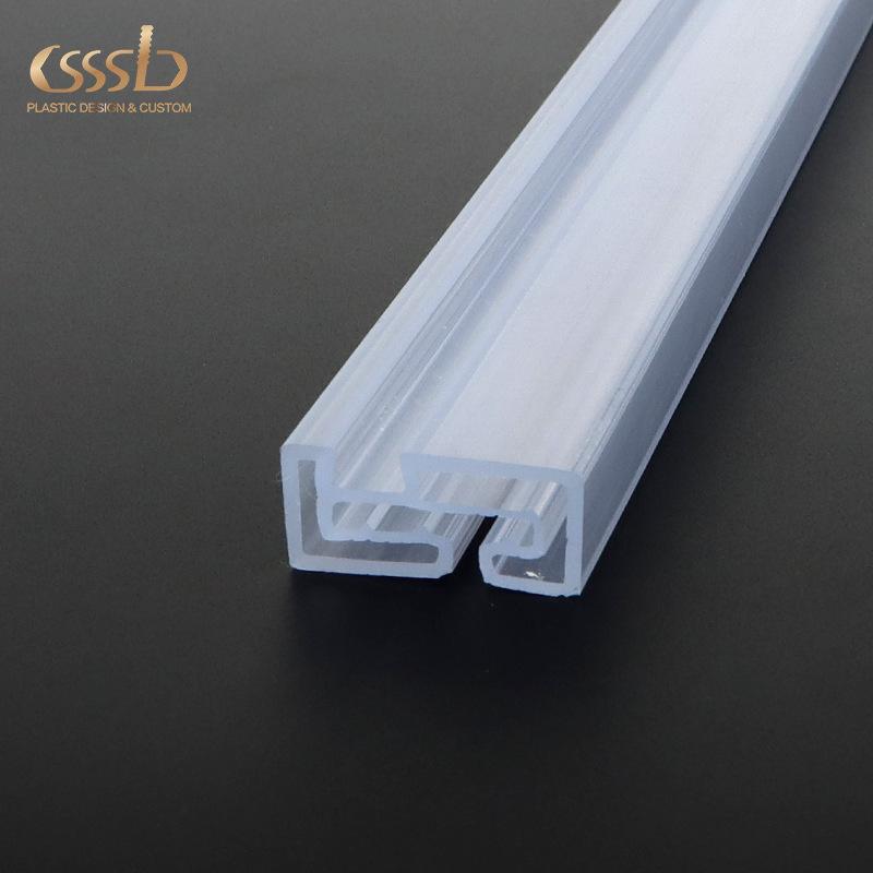 Vật liệu dị dạng PVC trong suốt hồ sơ Siêu thị thẻ quảng cáo mảnh mỹ phẩm treo khe cắm PC ép đùn hồ