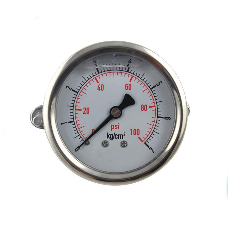 HE Đồng hồ đo áp suất Nhà máy trực tiếp bằng thép không gỉ chống sốc áp suất đầy dầu áp kế 304 thép
