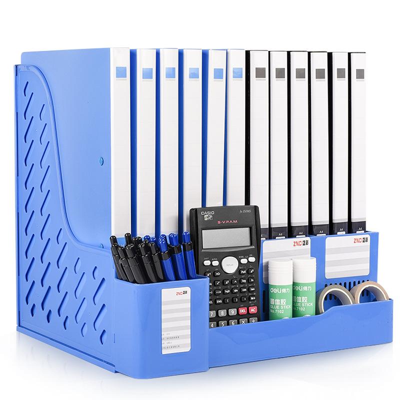 Kệ lưu trữ hồ sơ tập tin bằng nhựa gồm 4 khung tập tin.