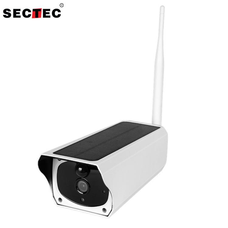 SECTEC Camera giám sát Thiết bị an ninh giám sát năng lượng mặt trời camera wifi từ xa HD súng chống
