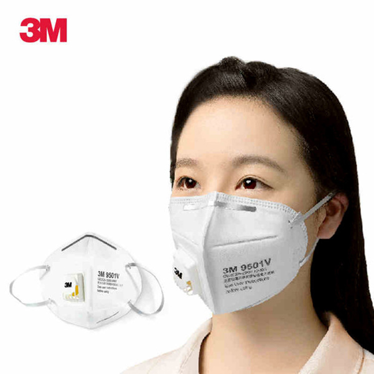 3M Khẩu trang bảo hộ Mặt nạ bảo vệ 3M9501V chống bụi chống bụi sương mù PM2.5 mặt nạ tai KN95 25 miế