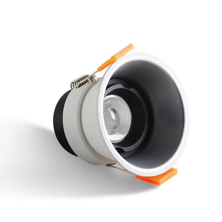 OEPE vỏ chụp đèn trần Khách sạn mới led spotlight cob đèn led âm trần 7W12W vỏ nhôm chống chói đèn t