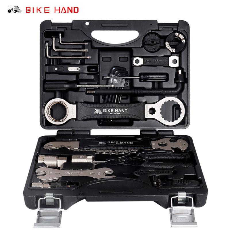 Bikehand Dụng cụ rửa xe đa chức năng sửa chữa xe đạp công cụ bảo trì sửa chữa lốp xe sửa chữa kết hợ