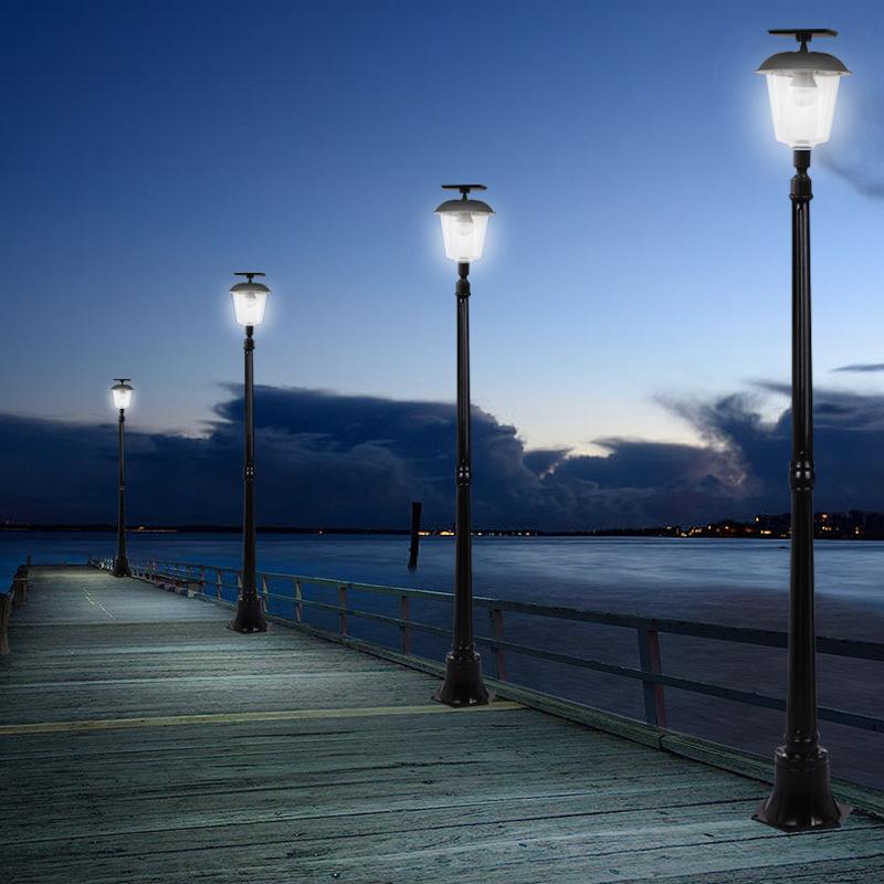 HDH Đèn LED chiếu sáng công cộng Năng lượng mặt trời cỏ ánh sáng ngoài trời nhà biệt thự sân vườn đè