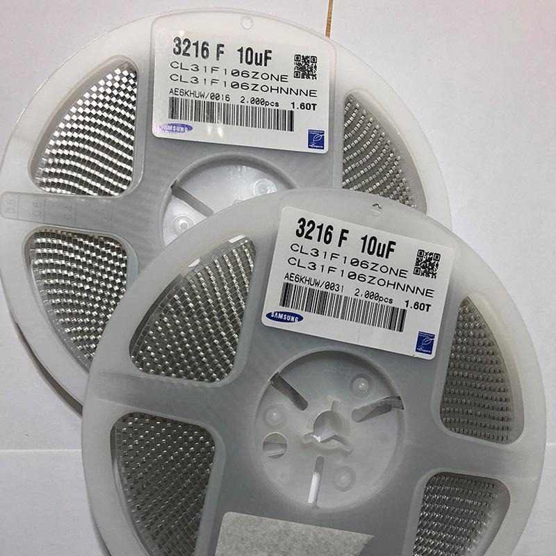Tụ Ceramic CL31F106ZOHNNNE1206 Tụ điện SMD Tụ kỹ thuật số 10UF106Z Tụ điện y tế