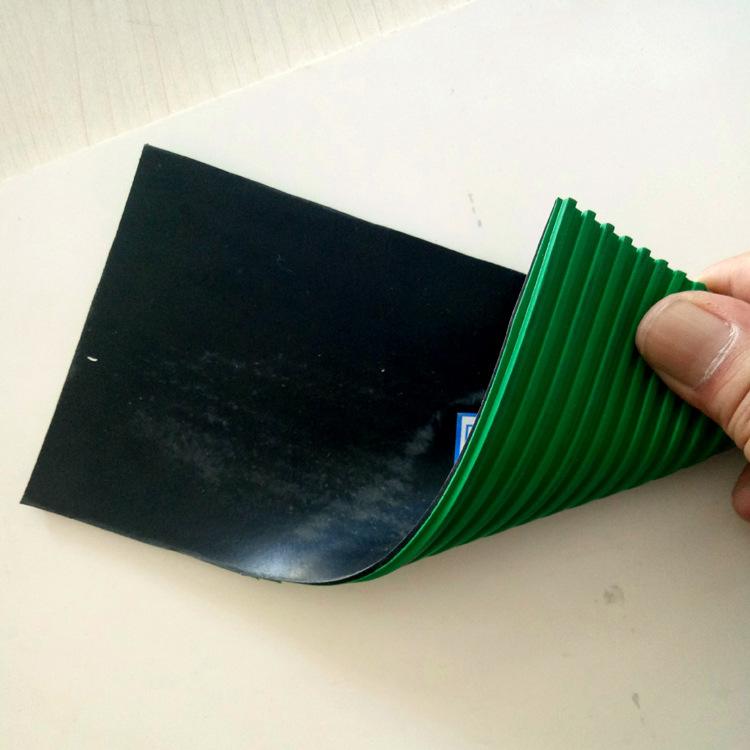 LVJIANBAO Ván cao su Cung cấp tùy chỉnh màu xanh lá cây cao su đen hai màu tấm cao su chống tĩnh điệ