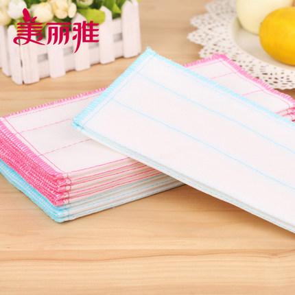 Maryya Khăn rửa chén Khăn lau chén bát dùng trong nhà bếp bằng vải cotton Sợi thấm thấm khăn lau nhó